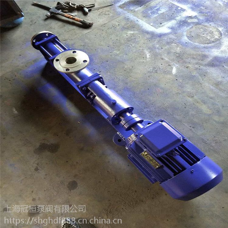 G35-1宜昌市卧式污水单螺杆泵G25-1 1.5KW 优质无堵塞螺杆泵 流量扬程功率是多少