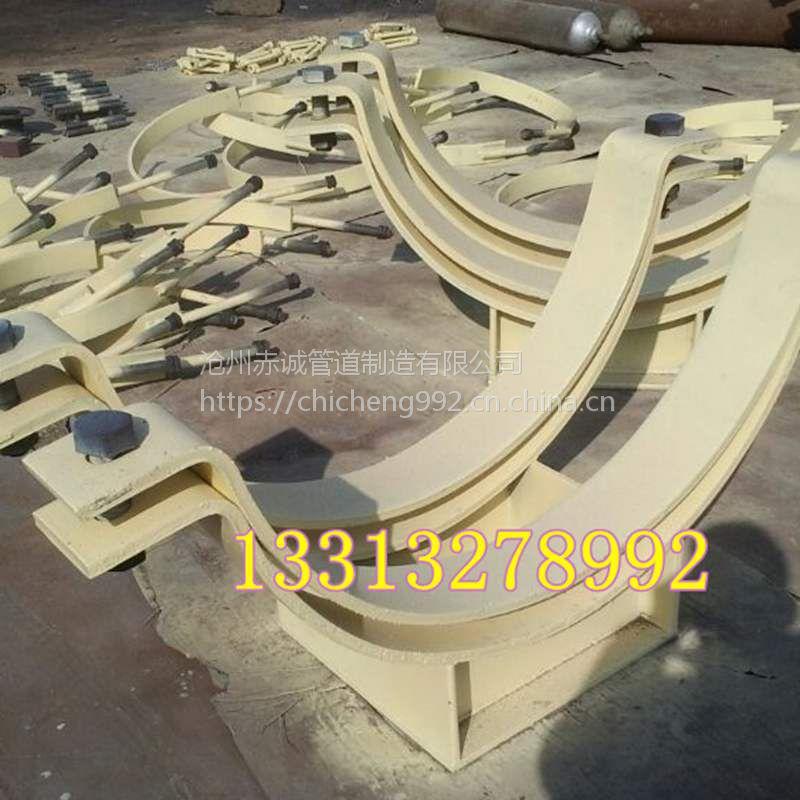 承德专供104c形钢带管夹生产厂家赤诚自产自销