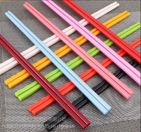 过QS标准FDA的合金筷子PCT塑料,可配任何颜色耐高温240度可消毒