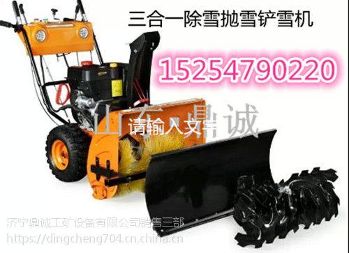 厂家供应钢丝刷式扫雪机,手推式抛雪机铲雪机清雪机三合一