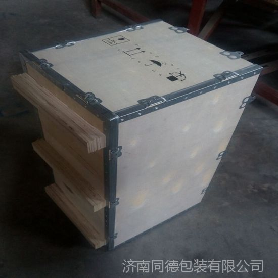 济南同德包装厂家 钢边箱 钢带木箱 可拆卸木箱 可定制