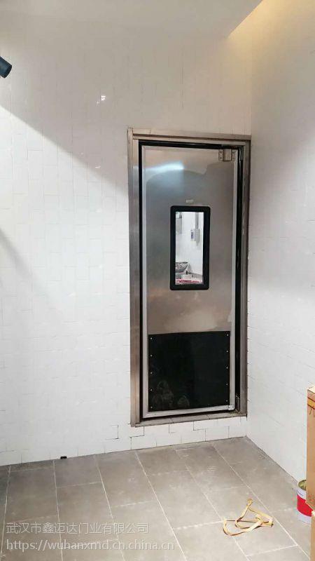 仙桃不锈钢防撞门|超市不锈钢自由门