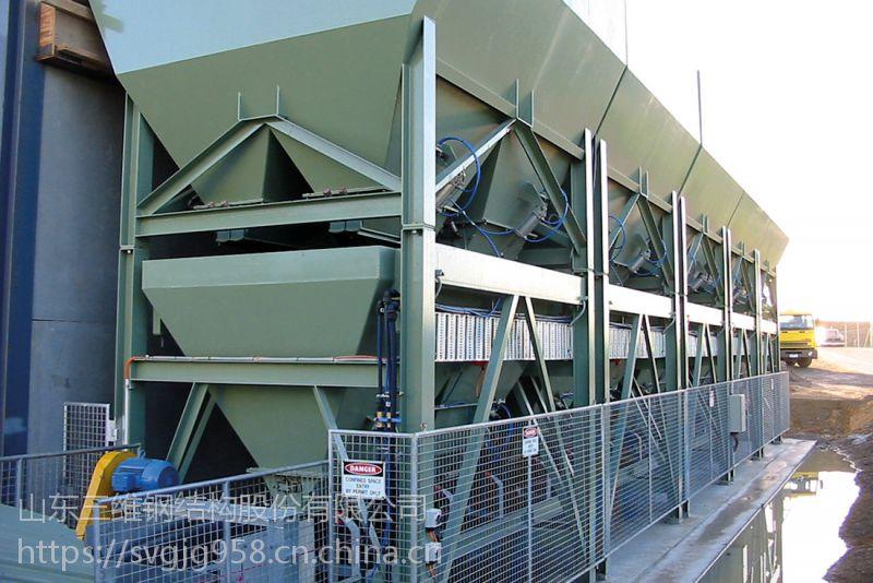 混凝土搅拌站设备钢结构料仓加工 壹级钢结构资质公司