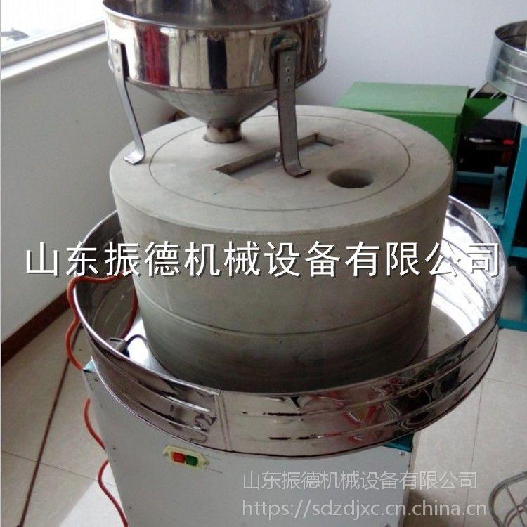 供应 传统香油芝麻酱电动石磨机 电动石磨豆浆机 多用途米浆肠粉磨 振德