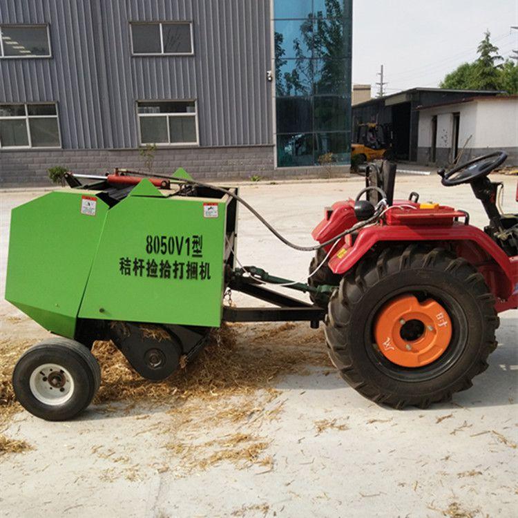 鑫联牌8050型麦秸打捆机田间作业视频