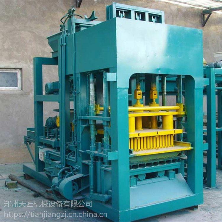 天匠 班产8万块标砖的液压制砖机 8-15自动送板码垛的免烧砖机设备