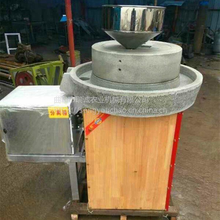 单机杂粮面粉石磨机天然石材 电动石磨面粉机瑞诚热销