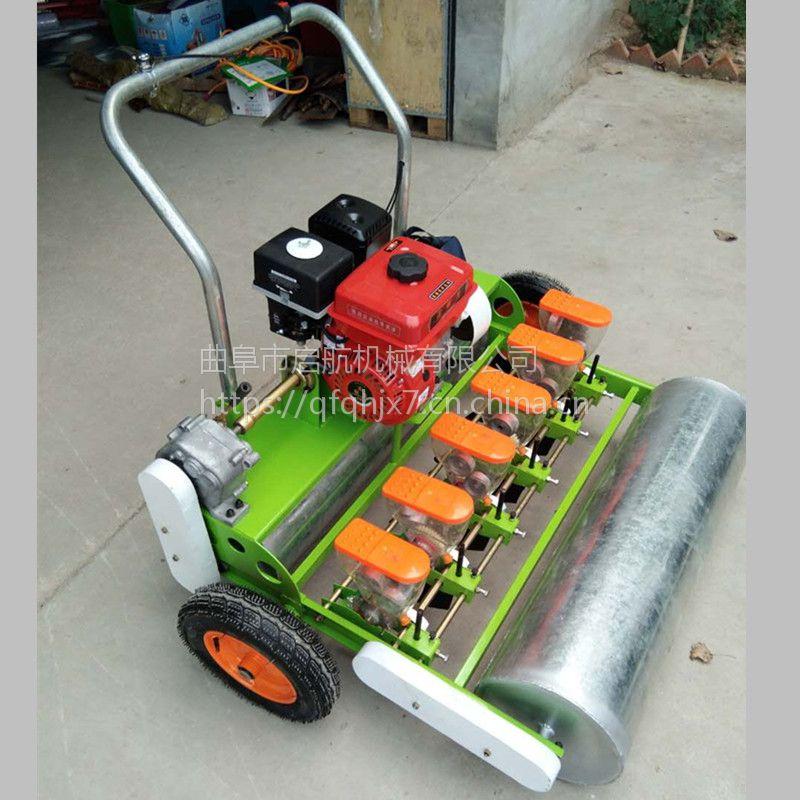 山西高粱蔬菜播种机 新型拖拉机带精播机 启航油菜菠菜播种机