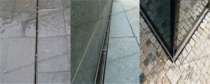 缝隙式排水沟专家 宏么瑞弧形线性排水沟