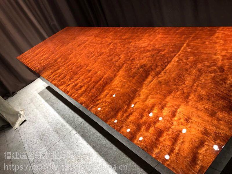 实木办公桌大班台, 烟台福山区国内不超过10家选用加蓬原料的简约现代实木大板桌茶桌自然边大板