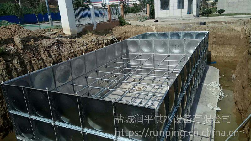 地埋式箱泵一体化泵站 地埋水箱 润平地埋水箱