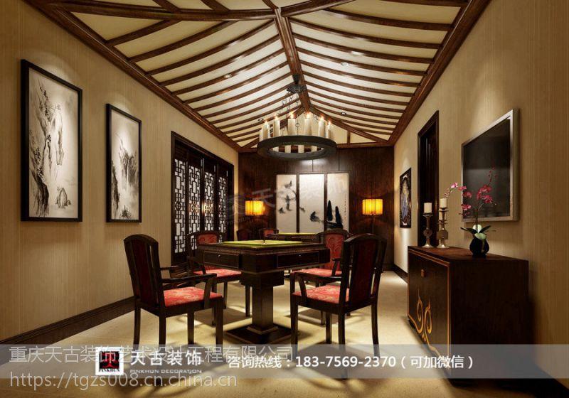 龙湖香樟林独栋别墅装修设计|天古装饰设计师曲进作品|中式风格