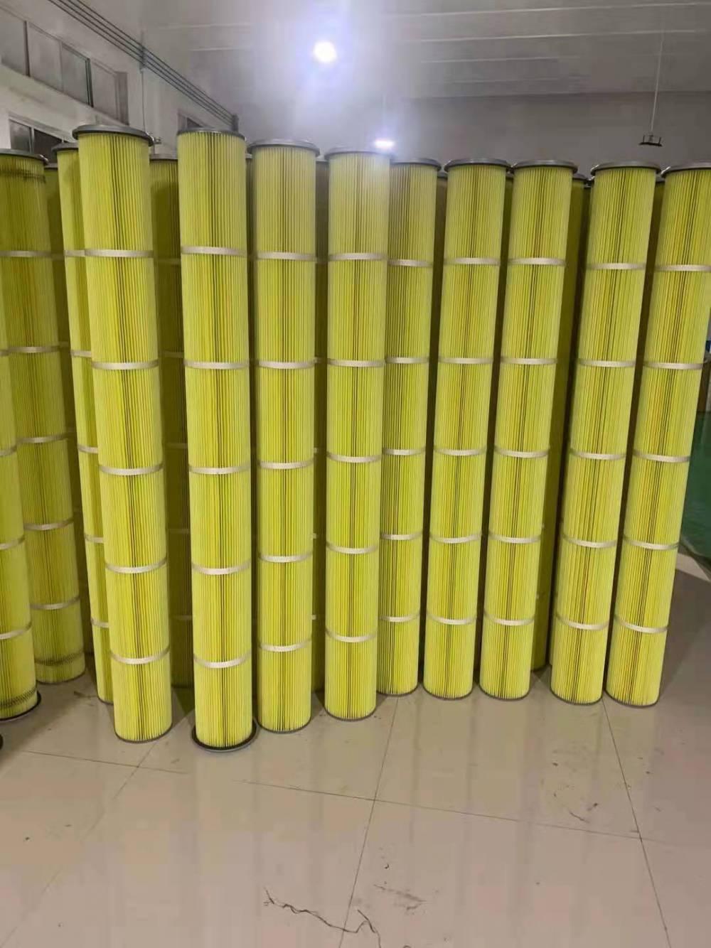 厂家生产聚酯纤维无纺布工业阻燃除尘PTFE覆膜滤筒滤芯