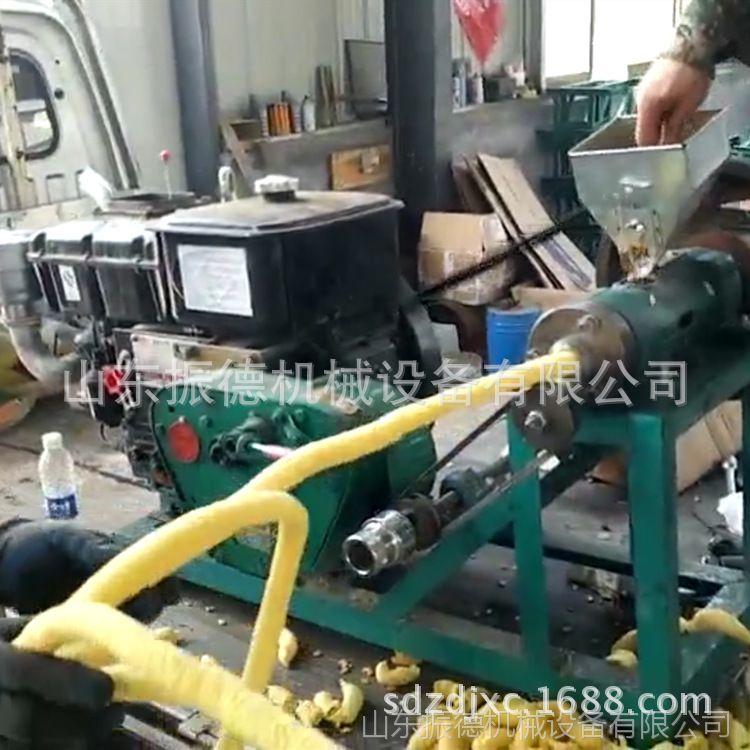多功能食品膨化机 新型弯管面粉膨化机 振德牌玉米包米膨化机
