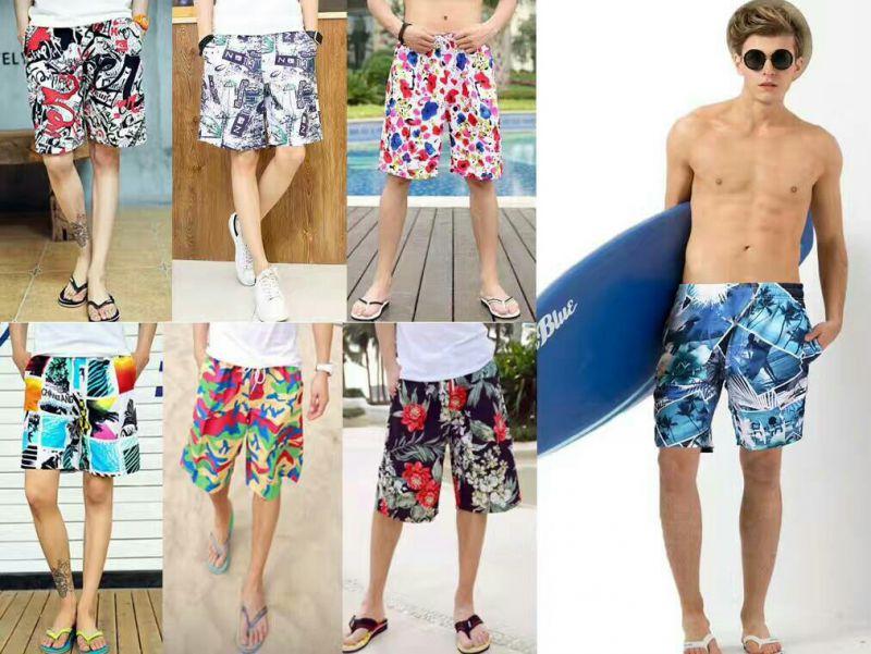3.8元便宜货源哪里找 外贸尾货男装宽松速干沙滩裤 男士五分休闲短裤