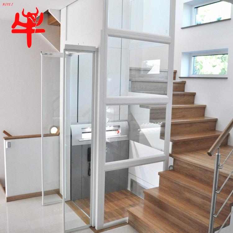 济南牛力家用别墅复式楼电梯小型二三层四室内外观光豪华简易液压电梯图片