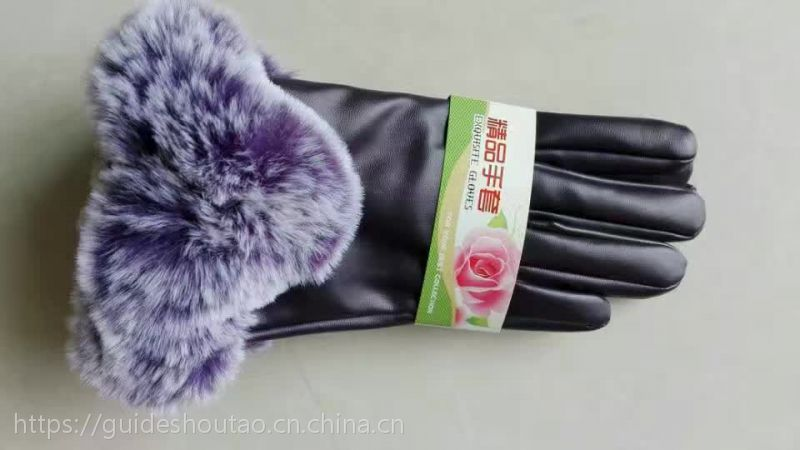 新款女士冬季保暖仿羊皮羊皮手套河北贵得手套