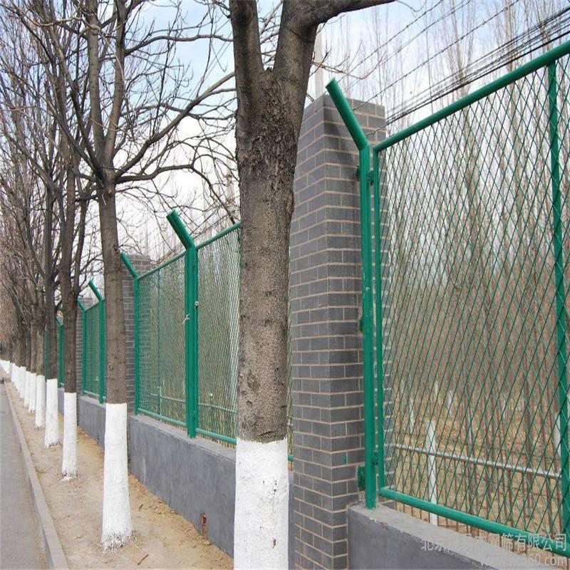 菱形扩张网 马路绿化隔离栅 拉伸铁板网