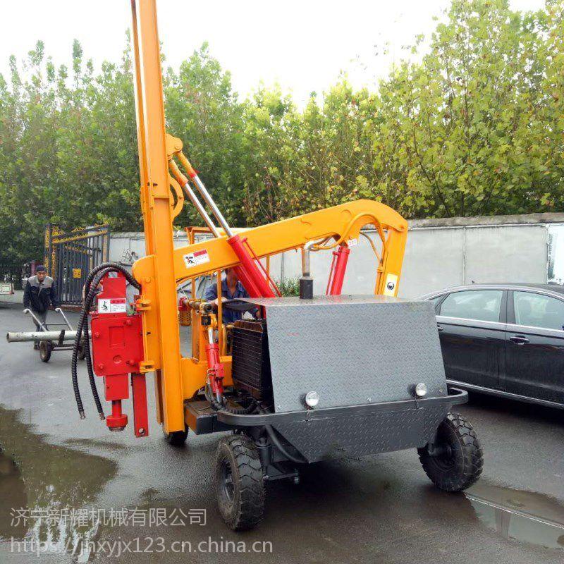 公路打桩机小型液压护栏钻孔机高速公路拔桩机