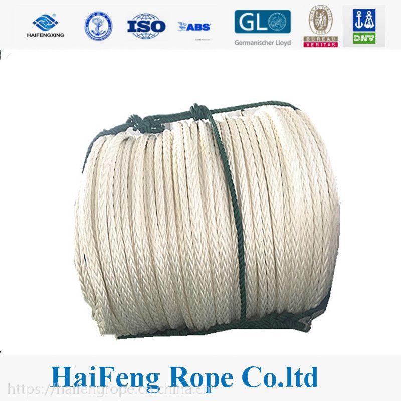 江苏海峰12股高分子聚乙烯缆绳,高分子绳缆