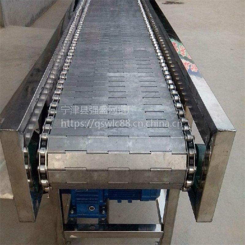 强盛厂家生产链板输送流水线 蔬菜清洗链板输送机 欢迎定制