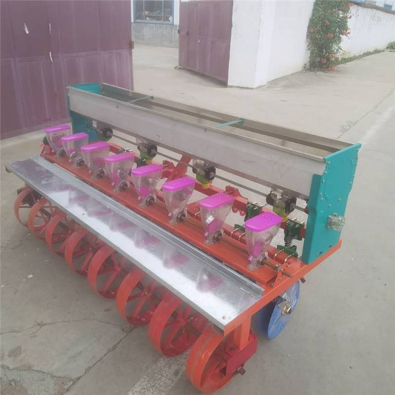 膜上娃娃菜点种机 手推式高粱谷子点播 启航甜菜种子穴播机