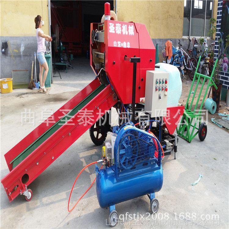 秸秆粉碎一体机 吉林玉米秸秆回收机 粉碎玉米秸秆打包机
