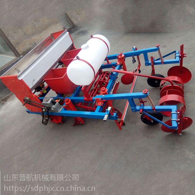 普航手扶牵引玉米喷药覆膜机 花生专用播种机 花生扣膜播种机厂家