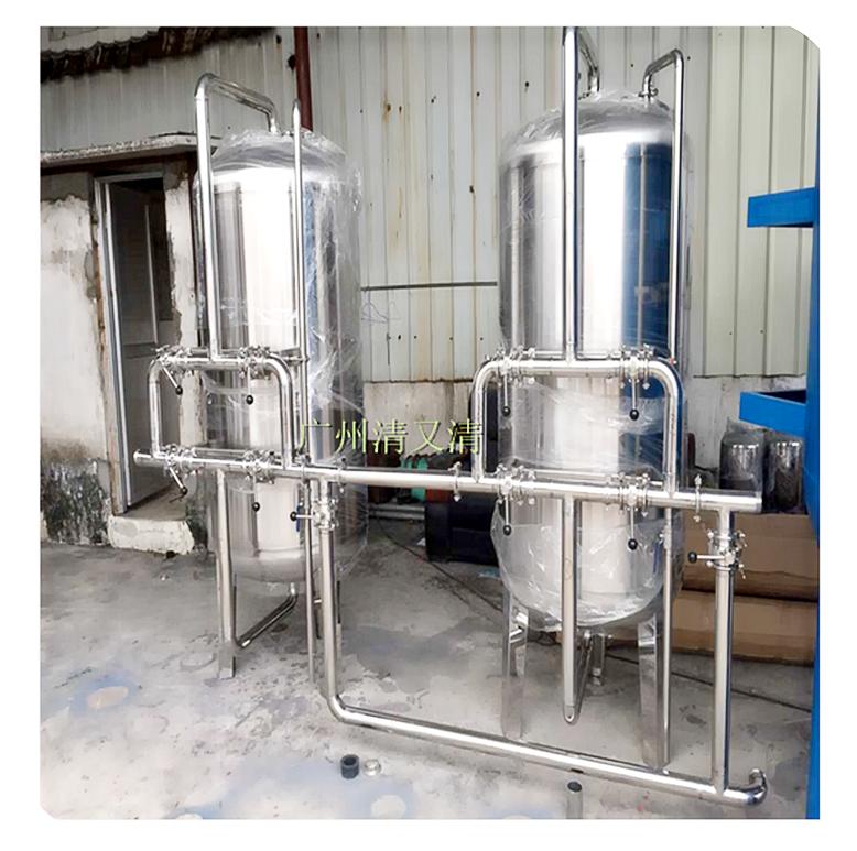 白云区大流量拉丝石英砂罐水处理多介质过滤器清又清ф2200*3600*5活性炭罐