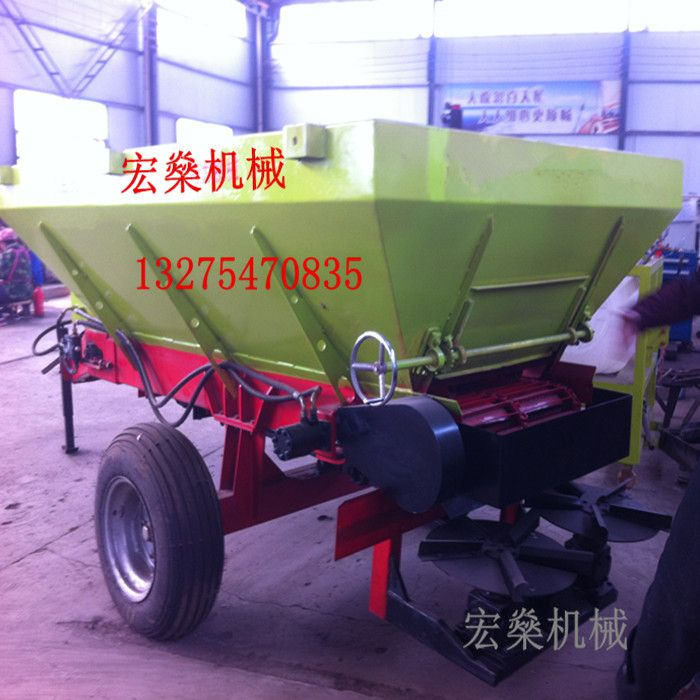 大型大功率撒粪车 拖拉机带1吨-12吨大型农机肥专用撒粪车
