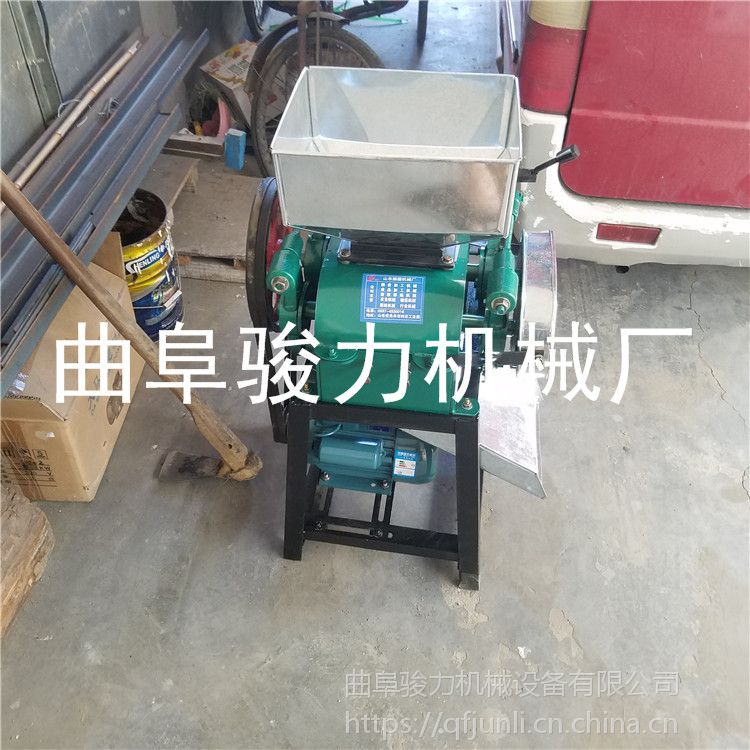 热销 新款花生米破碎机 燕麦大豆轧胚机设备 定做 高粱破碎机 骏力