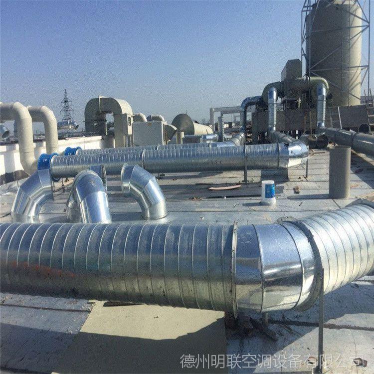 圆形螺旋风管 镀锌板风管加工 共板法兰风管 白铁皮风管