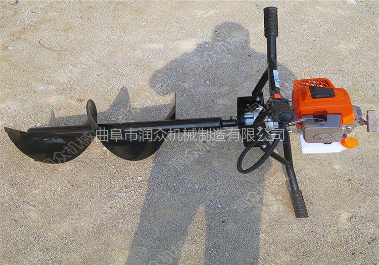 加厚拖拉机后悬挂挖坑机 手提式单双人挖坑机 螺旋钻孔机