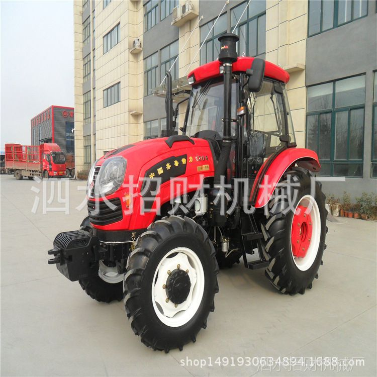 1204大型东方红动力拖拉机直销价格 农用四驱拖拉机带柴胡收获机