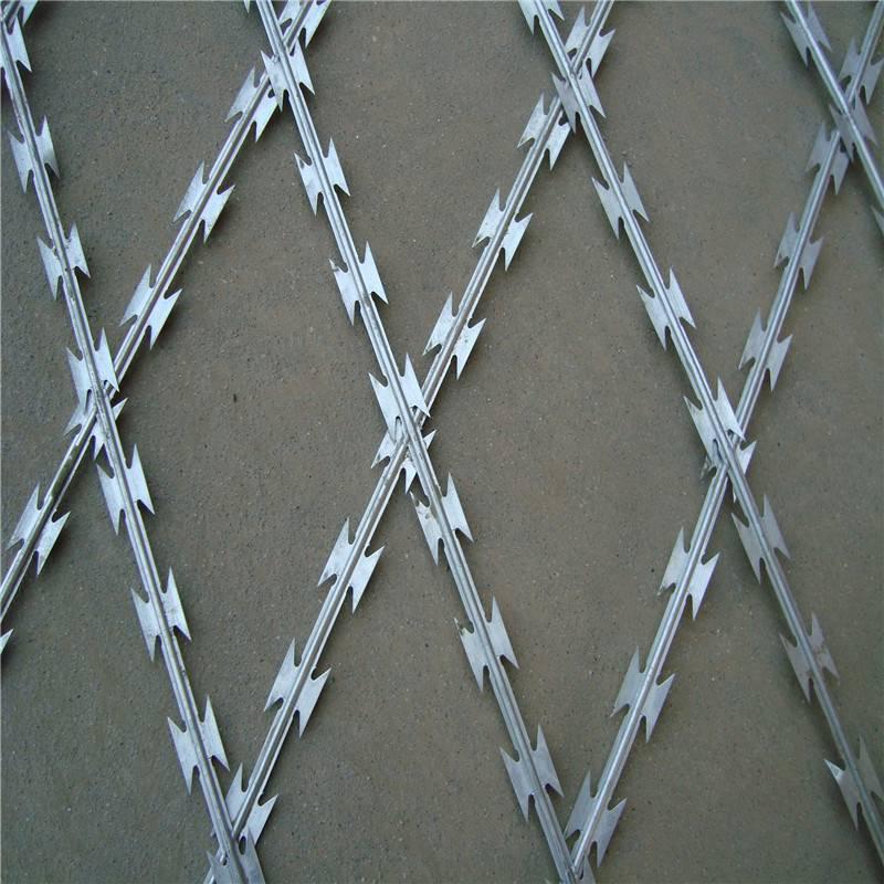 刀片刺绳护栏网 刀片刺网价格 刺绳隔离网