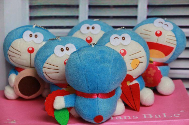 可爱哆啦猫公仔机器猫毛绒玩具包包A梦卡通钥发脾气表情包图片