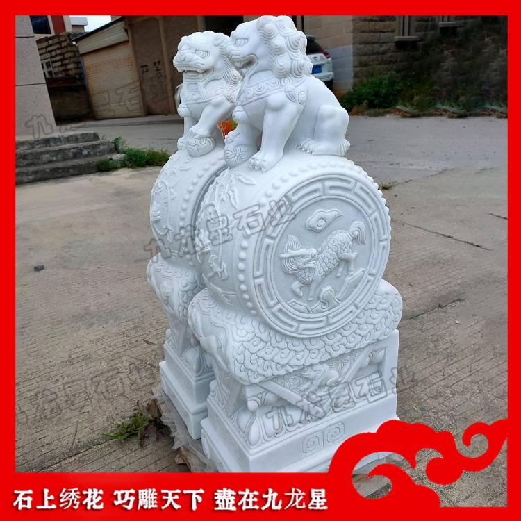 福字抱鼓石 门口石墩 南方古建筑石雕