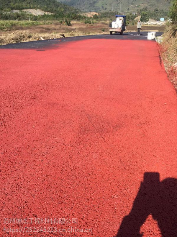 承德市平泉县彩色路面修复及黑色沥青路面改色