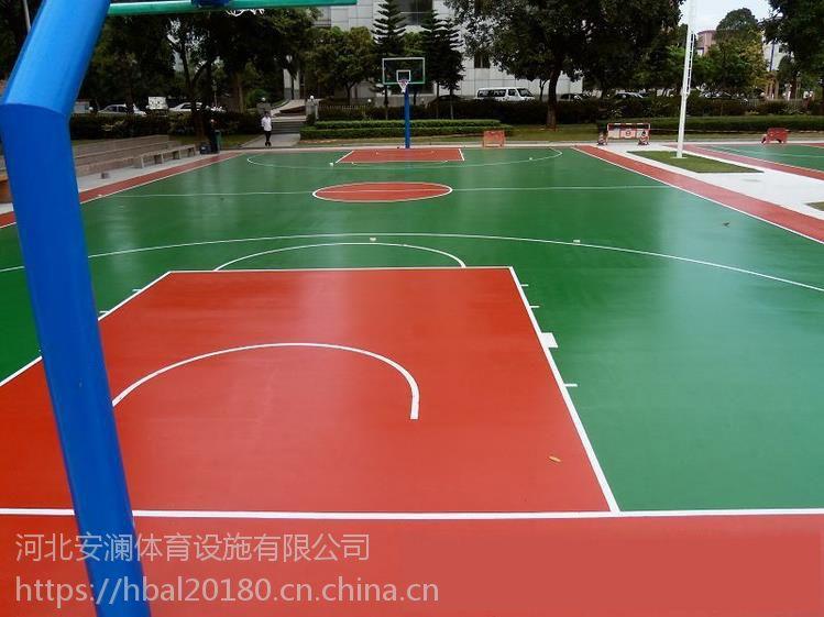 石家庄硅pu篮球场建设- 塑 胶跑道工程施工