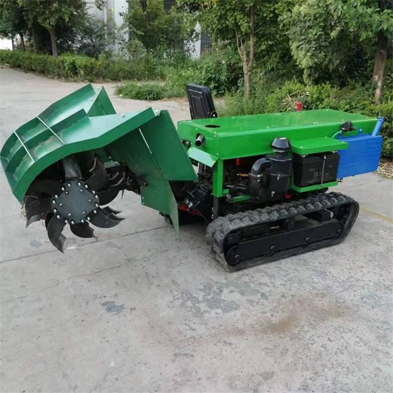 富兴履带式果园开沟机 果园旋耕施肥机 小型开沟机厂家