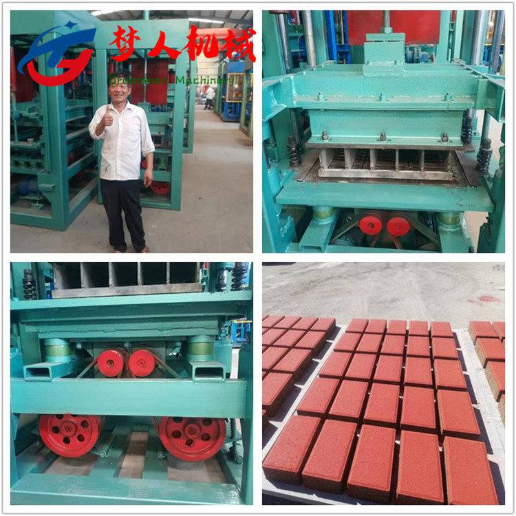 供应全自动水泥支撑机 多功能空心免烧砖机 全自动液压水泥垫块机 梦人