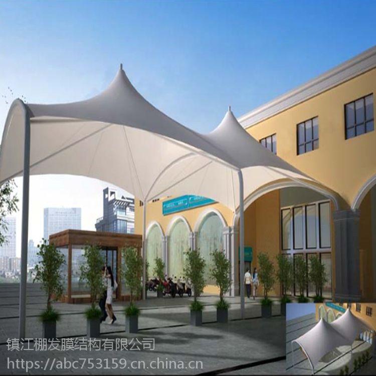 优质遮阳雨篷定制,酒店美观膜结构遮阳伞批发PVDF景观张拉膜小伞