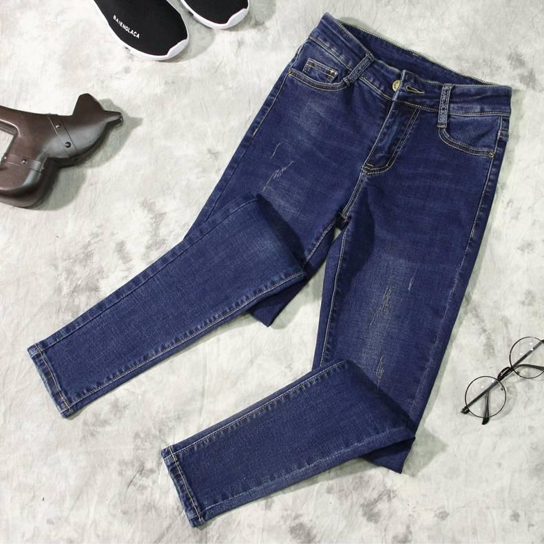 陕西便宜服装批发西安厂家清货一批库存牛仔裤杂款尾货女士裤子高腰牛仔裤清货