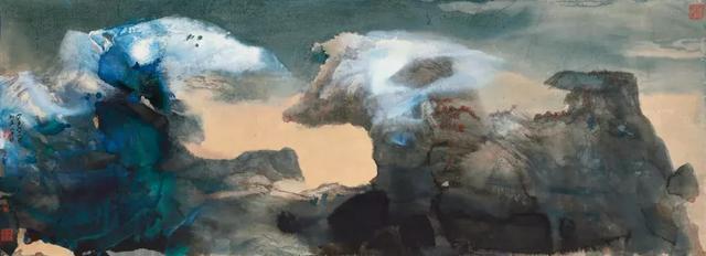 首度面世!张大千六尺泼彩山水、书法合璧巨制现身香港苏富比春拍