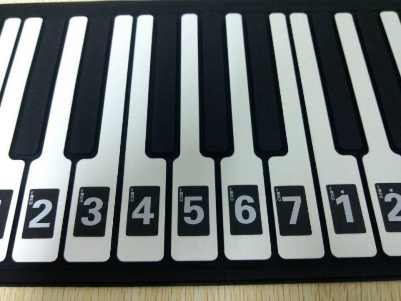 爆款 云之手卷钢琴 49键电子琴88键键盘数字贴纸 61键简谱对照表图片