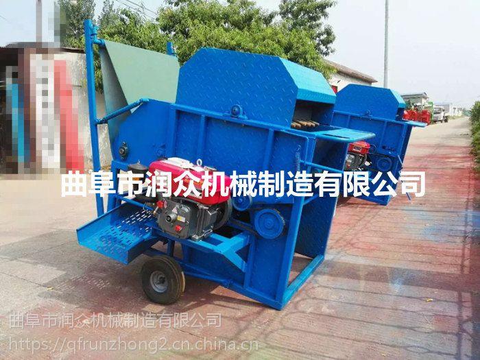 青豆杆荚分离机 润众青豆荚采摘机械 完全代替手工采摘