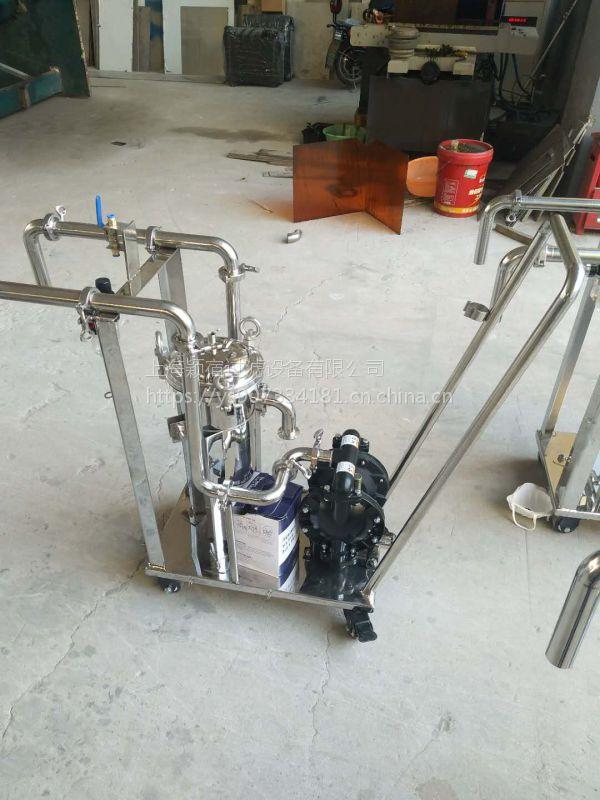 小推车精密过滤器 滤芯过滤器 钛棒过滤机
