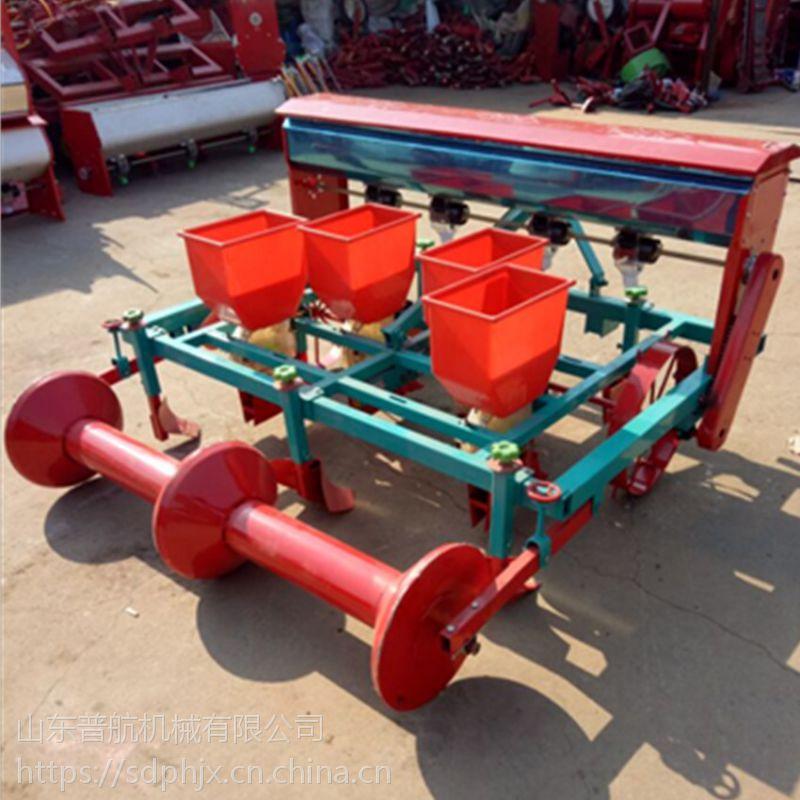普航玉米覆膜播种机型号 四轮牵引式花生四行播种机 手扶喷药覆膜机厂家