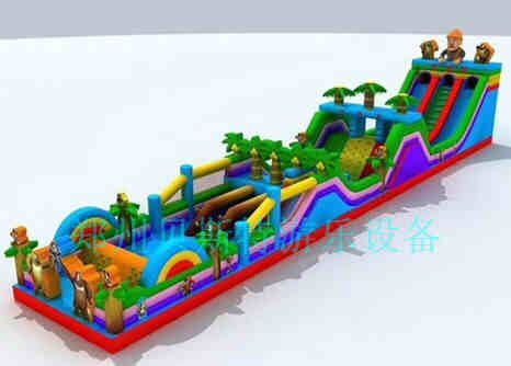 安徽宿州大型陆地充气城堡真的好赚钱呢