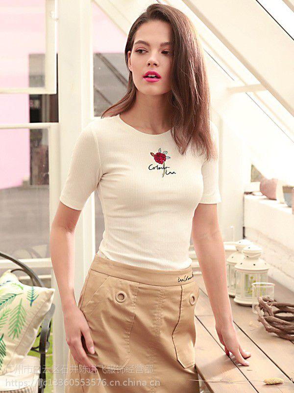 上海折扣女装拼货茵佳妮时尚品牌尾货走份